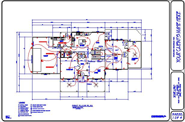Draftsman for the home builder drawing samples for Electrical layout plan pdf